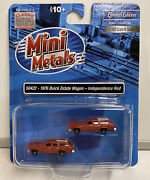 Mini Metals N Scale 1976 Buick Estate Wagon Independence Red Set 50422