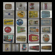 Boxes Advertising Images Metal Vintage Design 20th Curiosity By Pn