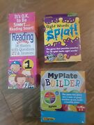 Brain Quest Grade 1 Reading + K-1 Word Game And New My Plate Grades 2-3 Game