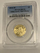 2016-w 100th Anniversary National Parks Service Gold Pcgs Ms70