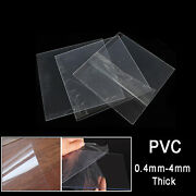 Transparent Clear Pvc Sheet Hard Plastic Plate | 0.4/0.5/1/2/3/4mm Thickness