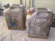 Lot Of 2 Usmc Army Military Us Military Ful Can 20l Scepter Gas Jerry 5 Gal