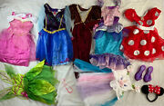Halloween Disney And Others Princess Dress Up Costume Play Lot Sz 4-6x Used