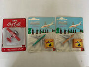 New Lot Of 3 Coca Cola Collectible Die Cast Planes Coke Toys Airplanes Nip