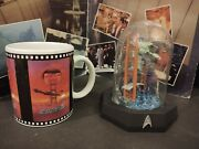 Star Trek Franklin Mint 5andrdquo Domed Glass The Voyage Home With Coffee Cup