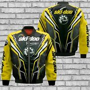 Ski-doo/brp/snowmobile/menand039s Us 3d Bomber Jacket/version 2/hot Gift/size S-5xl