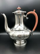 Vintage Beautiful Reproduction Old Sheffield Plate England Teapot, 10 1/2 Tall