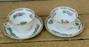 Warwick Vintage 1950 Set Of 2 Cups And Saucers Indian Tree Pattern Lovely