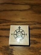 Stampabilities Travel Compass Rubber Stamp