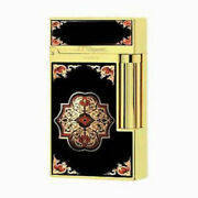 S.t. Dupont L.e. Travel In Time Ligne 2 Lighter Yellow Gold 16980 016980 Nib