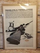 Vintage Firearms Advertising 1959 Colt Rifle W/colteer Scope Collectible Ad