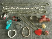 Job Lot/bundle Costume Jewellery Rings,bracelets,necklace Some New Some Used