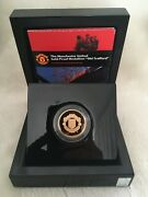 Manchester United Gold Proof Medallion Coin 1/2oz Old Trafford Limited To 500