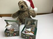 Old World Christmas Coffee Sail Boat Glass Blown Ornament Nordstrom Bear Lot