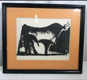 Rare Picasso Hand Signed Lithograph Only One On Ebay Black And White Bull Offer