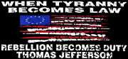 When Tyranny Becomes Law Betsy Ross Distressed Black Vinyl Bumper Sticker