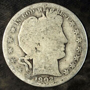 1902 O Barber Silver Half Dollar ☆☆ Circulated ☆☆ Great For Sets 113