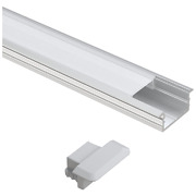 10x Aluminum Profile And Channel Wardrobe Rail For Strip Lights Flat Cover