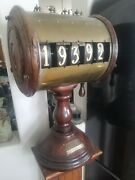 19th Century Antique French Lottery Gambling Spinning Numbers Wheel Rare Paris