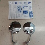 Fender Side Mount Mirror Pair Landr Offset 24 Chevy Ford Custom 30and039s 40and039s 50and039s
