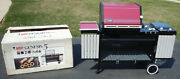 Vintage 80and039s Weber Genesis 5 Burgundy Gas Grill 493001 1988 Collector Quality