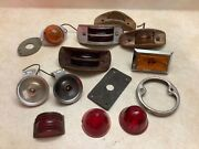 Lot Marker Lights Clearance Lamps Vinyage Truck Trailer Glass Lenses Doray Kd