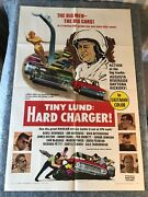 Tiny Lund Hard Charger 1967 Orig 1 Sheet Movie Poster 27x41 Vf Nascar Action