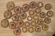 Henriot Quimper Pottery 27 Plates Various Sizes Variety Of Fleuri Royal 50 Off