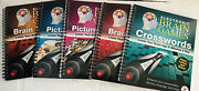 Lot Of 5 Electronic Brain Games Books Picture Puzzles And Brain Training
