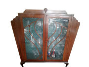 Antique Display Cabinet Made Of Solid Mahogany Wood