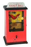 1929 Peo Mfg Vest Pocket Countertop Basketball Coin Operated Arcade Game