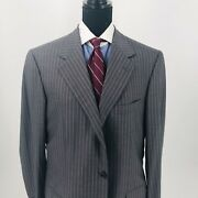 Nwt Brioni Suit Gray Pinstripe 42r Us Super 150andrsquos Wool Made In Italy