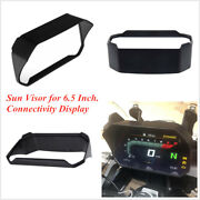 Black Motorcycle 6.5 Instrument Sun Visor Protection Cover