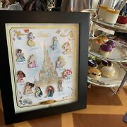 Hkdl Le150 Castle Of Magical Dreams Princess Series Pin Set With Display Frame