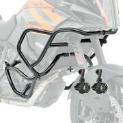 Engine Guard + Auxiliary Lights For Ktm 1290 Super Adventure R / S / T 17-20 Blk
