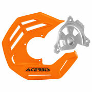 Acerbis X-future Front Disc Cover With Mounting Kit Orange