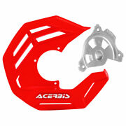 Acerbis X-future Front Disc Cover With Mounting Kit Red