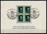 He Who Would Save A People Rare Ww2 Stamp Sheet Axis Summit Swastika Pand039marks