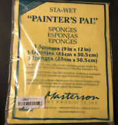 Masterson Art Products 91251 Sta-wet Painters Pal Sponge 9x12 Pack Of 3