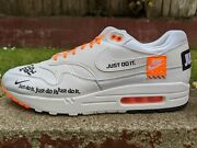 Ds Nike Air Max 1 Jdi Just Do It White Sz 12 Flyknit 90 95 Retro Silver Bullet
