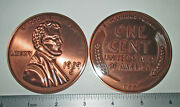 Big 3 Novelty Metal Coin Replica 1909 S-vdb Lincoln Head Penny - Paperweight