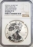 2006 P Reverse Proof Silver Eagle Certified Reverse Pf 70 By Ngc Sku 008