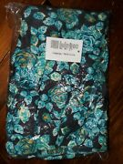 Tc Lularoe Tall And Curvy Leggings Beautiful Teal Blue And Yellow Floral Nwt