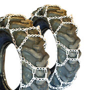 Titan H-pattern Tractor Link Tire Chains Snow Ice Mud 10mm 12.4-36