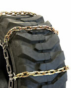 Titan Alloy Square Link Tire Chains 4 Link Space Skid Steer 8mm 50-15