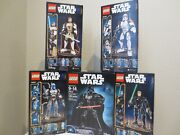 Lego Star Wars Buildable Figures Lot 5 75107 75108 75109 75110 75111 New