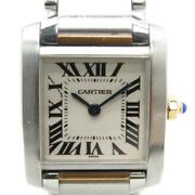 Tank Francaise Watch Small Model Silver Dial Yellow Gold Stainless Steel