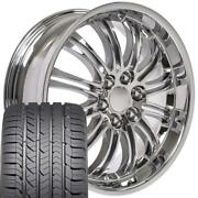 22x9 Wheel And Tire Fits Chevy Gm Escalade Chrome Rims Gy Tires 5413 Cp