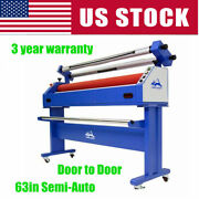 Us Stock 63in Semi-auto Wide Large Format Cold Laminator And Mounting Machine