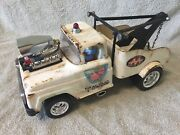 Antique Tonka Pressed Steel Wrecker -tow Truck Car With Blower And Gonzo Driving